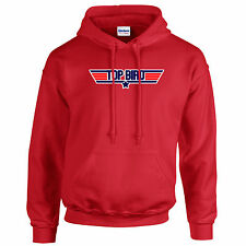 TOP BIRD top gun font style HOODIE many colours & sizes
