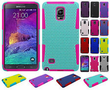 Samsung Galaxy Note 4 MESH Hybrid Silicone Rubber Skin Case + Screen Protector