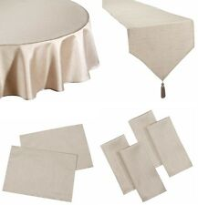 FAUX SILK LATTE SILVER TABLE CLOTHS PLAIN BIRTHDAY PARTY CHRISTMAS OCCASIONS