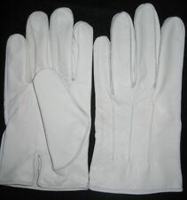 Victorian Mens White Dress Leather Gloves