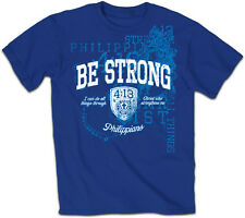 """NEW MEN'S CHRISTIAN T-SHIRT """"BE STRONG"""" PHIL 4:13 NWT"""