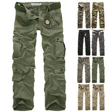 Combat Men's Cotton Military Cargo Pants Camouflage ARMY Camo trousers