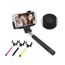 Handheld Bluetooth Selfie Rod Monopod Extendable For iPhone Samsung Dual clip
