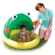 Bestway 50+ UPF Inflatable Fish & Me Frog With Sunshade Kids Swimming Play Pool