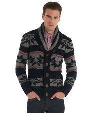 New Mens Superdry Supershawl Cardigan Navy