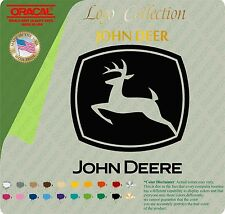JOHN DEERE X 2 LOGO TOP GRADE VINYL DECAL STICKER BIG BUMPER WINDOW set of two