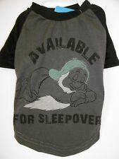 "DISNEY Character ""SLEEPY"" DOG T-SHIRT says:""AVAILABLE FOR SLEEPOVERS"" DOG T-SHRT"