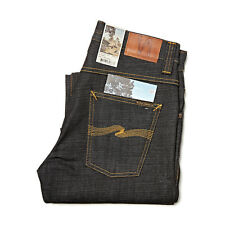 NUDIE JEANS CO STRAIGHT ALF DRY HEAVY JEANS UNWASHED RIGID