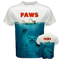PAWS FUNNY Hilarious Kitty Cat PARODY Movie Pet Cute Girl Kitten TEES T-SHIRT PW