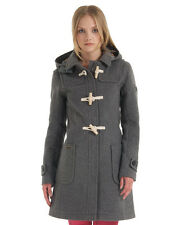 New Womens Superdry Classic Duffle Coat Dark Marl Grey
