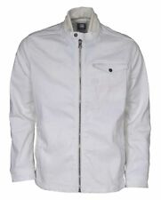 NWT G-Star Raw A Crotch White Rochester Denim Zip Overshirt Jacket Coat M L