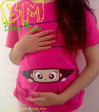 Funny peek a boo maternity shirt clothes pregnant blouse