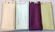 LUXURY FAUX SILK SHOWER CURTAIN & RINGS - WEIGHTED HEM & PEVA BACKING 180x180CM