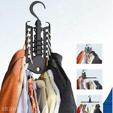 New Foldable Magic Saving Space Clothes Hanger Clotheshorse Organizer Hook Rack