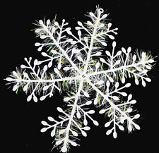 Hot 30pcs White 11cm Snowflake Ornaments Christmas Party Tree Window Decorations