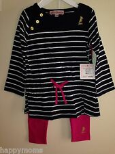NWT Juicy Couture Baby Girl Tunic Legging Set 3-6,6-12,12-18,18-24 Months $64