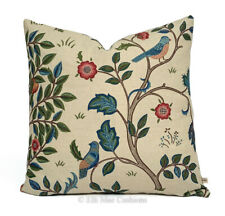 William Morris Fabric Cushion Cover Designer Kelmscott Tree Linen Red Pillow