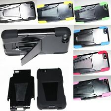 For Apple iPhone 5C Hybrid Armor Hard Cell Phone Case+Soft Silicone Cover Stand