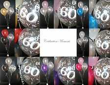 Happy 60th Birthday Party Helium Balloon Decoration DIY Clusters Kit - 20 tables