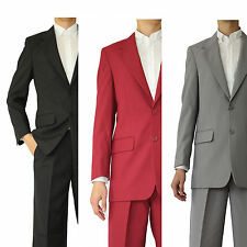 Men's basic suit 2 button single breasted (comes with pants) 702P by Milano Moda