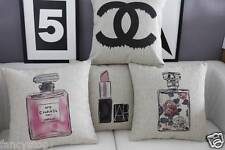 Flax Color Perfume Lipstick print cotton&linen Sofa cushion case/pillow cover