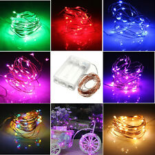 2M/3M/10M LED Copper Silver Wire Party Wedding Xmas Holiday Fairy String Lights
