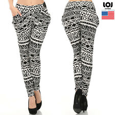 Women's High Waist tribal print jogger pants with front pockets S/M M/L