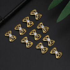 10Pcs Chic 3D Elegant Alloy Rhinestone Bowknot Nail Art Stickers DIY Decoration