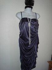 Flapper Dress Plus Size Ruffle Flower Ruching Stretch Sexy Halloween Costume