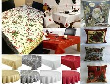 PLAIN NEW ALL OCCASSIONS TABLE CLOTHS /TABLE RUNNERS OR CUSHION COVERS CHRISTMAS