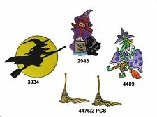 Halloween,Witch,Witches Broom Embroidery Iron On Applique Patch