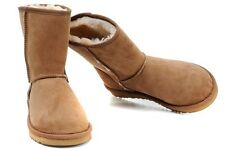 Women's UGG LEATHER CLASSIC SHORT CHESTNUT
