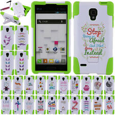 FOR LG Optimus L9 P769 Love/ Live HYBRID Silicone Hard Case Cover Y Stand + Pen