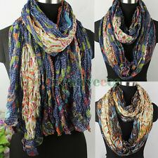 Paisley&Dotted Lines&Tiger Crinkle Long Scarf/Infinity Loop Cowl Circle Scarf