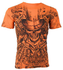 Xtreme Couture AFFLICTION Mens T-Shirt OFFERING Skull Tattoo Biker UFC M-3XL $40