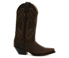 Grinders Buffalo Brown Men Cowboy Boots All Sizes New
