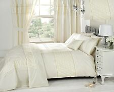 Cream Duvet Cover Bedding Bed Sets Or Curtains /Matching Accessories EMBROIDERED