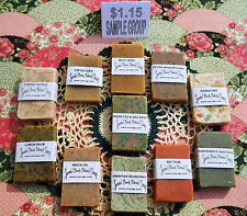 SAMPLE SIZE 10 Varieties to choose from of Natural Handmade SOAP $1.15 Group