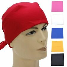 6 Color Fancy Plain Bandana Cotton Head Neck Wrist Wrap Neckerchief Scarf GHK07