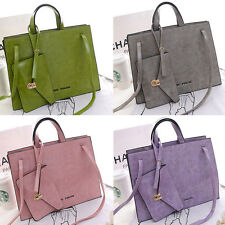 Women's Tote Handbag With A Purse Wallet Attached PU Leather Hobo Candy Colors