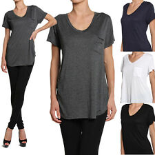 TheMogan PLUS V-neck Loose Fit Jersey Boyfriend T-shirts Short Sleeve Tee
