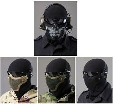 Paintball Airsoft Gear Half Face Strike Metal Mesh Tactical Protective Mask LJ