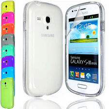Transparent Silicone Gel Case Cover FOR Samsung Galaxy S3 Mini i8190+Screen Film