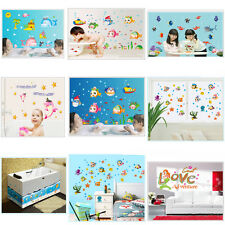 Wall Stickers Mural Decal Paper Art Decoration Sea Ocean World Fish Submarine