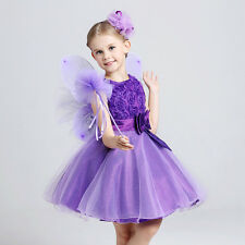 2014 Lace Tulle Flower Girl Dress Wedding girl Party prom Girl's Pageant Dress