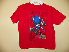 METAL SONIC THE HEDGEHOG-BOYS SIZE 2 TODDLER--LICENSED SHORT SLEEVE-NWTOT-RED