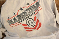 Hard Core Brands HC Stars and Stripes Long Sleeved Gray T-Shirt Hardcore Tee