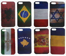iphone 4 / 4S / 5 / 5S National Country Flag Protector Case Back Cover UK Seller