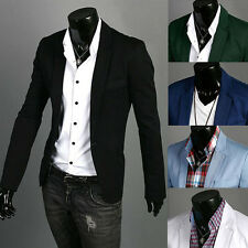New Stylish Mens Casual Slim fit One Button Suit Blazer Coat Jackets