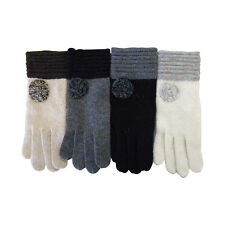 New Warm Knit Winter Gloves Womens  Cute Fashion Design Classic Colors